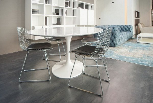 sedia bertoia side chair art leather