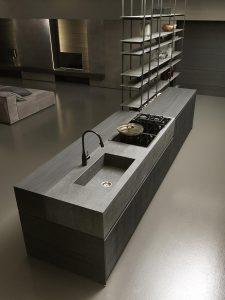 cucina blade di modulnova dettaglio isola