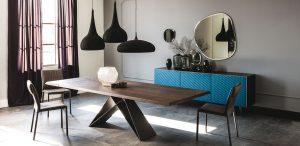 Cattelan: tavolo e specchio