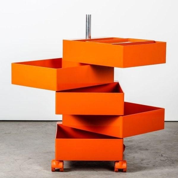 cassettiera 360 container cassetti ruote magis arancione