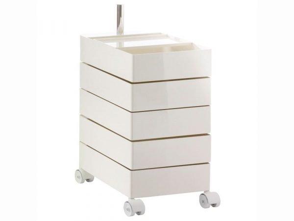 cassettiera 360 container cassetti ruote magis bianca