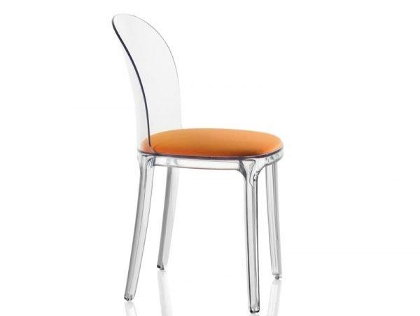 vanity chair magis arancio