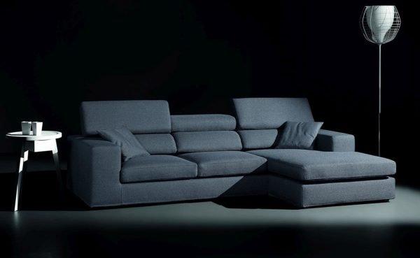 divano con chaise longue sedili reclinabili