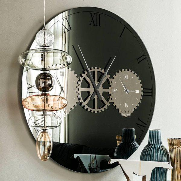 specchio orologio times cattelan