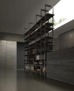 cucina blade di modulnova dettaglio libreria