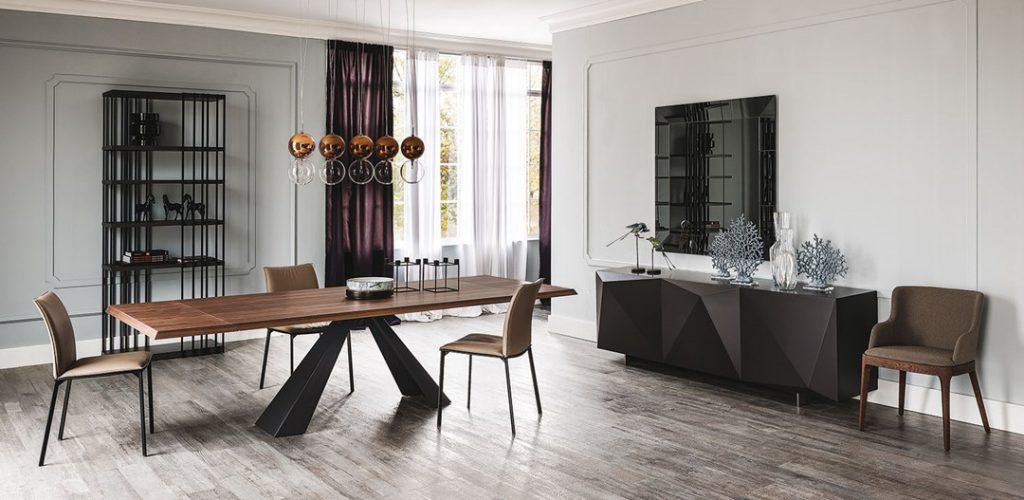 tavolo elliot wood cattelan zona giorno